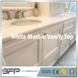 De elegante Witte Marmeren Bovenkant van de Ijdelheid voor de Bovenkant van de Badkamers/de Bovenkant van het Kabinet van de Badkamers