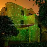 Lumière rouge extérieure d'étoile de nuit de laser de vert