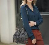 Chemise avec du charme fraîche Chiffon de douille de nouvelles dames de mode longue