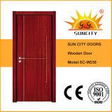 Diseño del dormitorio Flush económica Pintura puerta de madera (SC-W036)