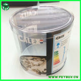 PlastikRound Transparent Empty Gift Box mit Your Custom Design