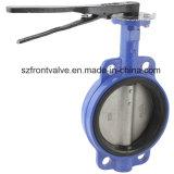 Чугун/дуктильная клапан-бабочка вафли утюга Pn10/Pn16 Dn80