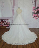 Vestido de casamento elegante da alta qualidade do laço Backless do vestido de esfera