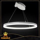 Lâmpada decorativa moderna do pendente do diodo emissor de luz do círculo da venda quente (KA9972-1MD)