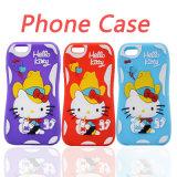 Pequeños accesorios bonitos del teléfono celular del iPhone 6s/6plus de la caja del silicón de Kity de la cintura (XSK-021)