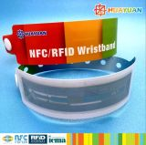 Pulsera disponible del Wristband del boleto MIFARE Ultalight EV1 RFID de Waterpark