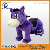 Cheval d'oscillation adulte animal motorisé par peluche de passage de batterie pour le mail