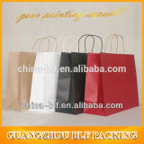 Garment (BLF-PB101)를 위한 주문을 받아서 만들어진 Colorful White Kraft Paper Bag