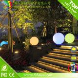 Esfera do jardim da iluminação/esferas ao ar livre da decoração/esferas plásticas do diodo emissor de luz