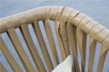 新しいデザインはRestauranの庭の柳細工の単一の椅子を緩める