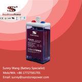 Baterias solares acidificadas ao chumbo inundadas tubulares do inversor da bateria 2V 250ah de Opzs