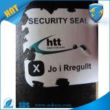 Etiqueta engomada de encargo auta-adhesivo del código de barras de la impresión/etiqueta engomada autodestructiva