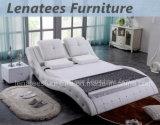 Möbel-modernes ledernes Bett des Schlafzimmer-A506