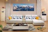 Promoción cómodo diseño moderno sofá de la tela