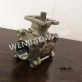 3PC Mujer válvula de bola roscada con ISO5211 almohadilla de montaje