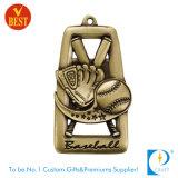 리본을%s 가진 금에 있는 주문 야구 메달 또는 은 또는 청동