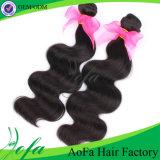 выдвижение человеческих волос волны волос естественной девственницы 7A бразильское