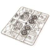 4452125-DIY 4 em 1 brinquedo de confusão de passeio solar do bloco de apartamentos educacional dos jogos T4 do robô