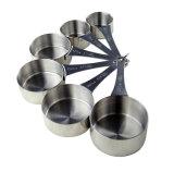 6 tazas de medición del acero inoxidable del PCS