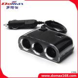 二重USB及び3つのソケット車の充電器のアダプターの煙るタバコのライター