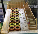 Kaiqi Kids Wooden Playground Sets con Slide, Climbrs, Stairs