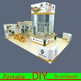 Cabine reusável portátil personalizada DIY da exposição com projeto