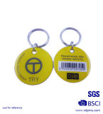 금속에 의하여 인쇄되는 Qr 부호 금속 꼬리표 열쇠 고리 (XD03022)