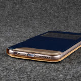 Leer Window S View Flip Cover voor iPhone 6 Plus