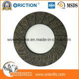 Material del embrague de fricción del asbesto del alto rendimiento