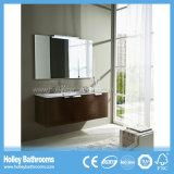 Vanité fixée au mur moderne de vente chaude de salle de bains avec 3 portes (BF374D)