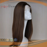 Peruca médica superior de seda não processada das mulheres do trabalho de mão do cabelo de Remy da cor do Virgin