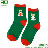 Calcetines de encargo del equipo del sudor de la Navidad del modelo lindo del oso