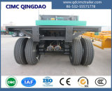 40FT 반 Cimc 상표 3 차축 콘테이너 편평한 침대 트레일러