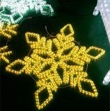屋外公平にクリスマスの休日ライト装飾をつける