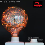 Bulbo colorido especial púrpura del material G125 G95 G80 del alambre de cobre de los bulbos de la estrella del LED