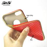 Casse del telefono di effetto TPU di Pattren della fibra del carbonio di Shs per il iPhone 6/7