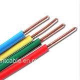 BV que ata con alambre el solo alambre de cobre de la base 6m m del cable eléctrico