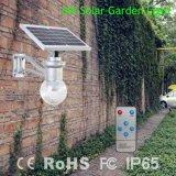 lampada solare del giardino di 6W LED con telecomando
