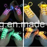 熱い販売点滅LEDのレース多彩で明るいLEDの靴ひも