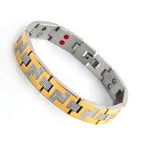 Bracelet magnétique d'acier inoxydable de la mode 316L de bio énergie d'éléments