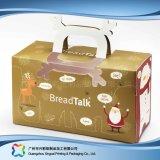 Rectángulo de empaquetado plegable ambiental del papel de Kraft para la torta del alimento (xc-fbk-046)