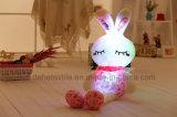 LEDライトが付いている美しい詰められたプラシ天のおもちゃ-- かわいいピンクのウサギ動物のおもちゃ