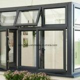 Dunkle Puder-Beschichtung-Aluminiumprofil des Grau-6063t5 für Aluminiumfenster