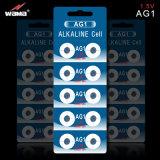 AG1/Lr621 1.5V高品質のアルカリボタンのセル電池