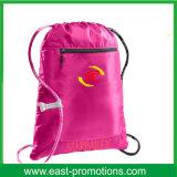 Le cordon en nylon personnalisé de gymnastique de la promotion 210d balade le sac de cordon