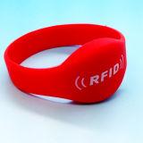 bracelet classique de forme physique d'IDENTIFICATION RF des silicones 1K de 13.56MHz MIFARE