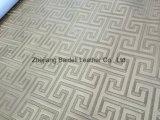 Sofá del PVC del Faux de la alta calidad/cuero Textured de los muebles con efecto de la perla