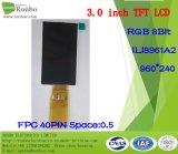 3.0 écran de TFT LCD de pouce 960*240 RVB, Ili8961A2, 40pin avec l'écran tactile d'option