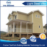 2개의 지면 가족을%s 조립식 강철 구조물 방갈로 집