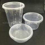 Casella di pranzo di plastica a gettare del contenitore degli alimenti a rapida preparazione